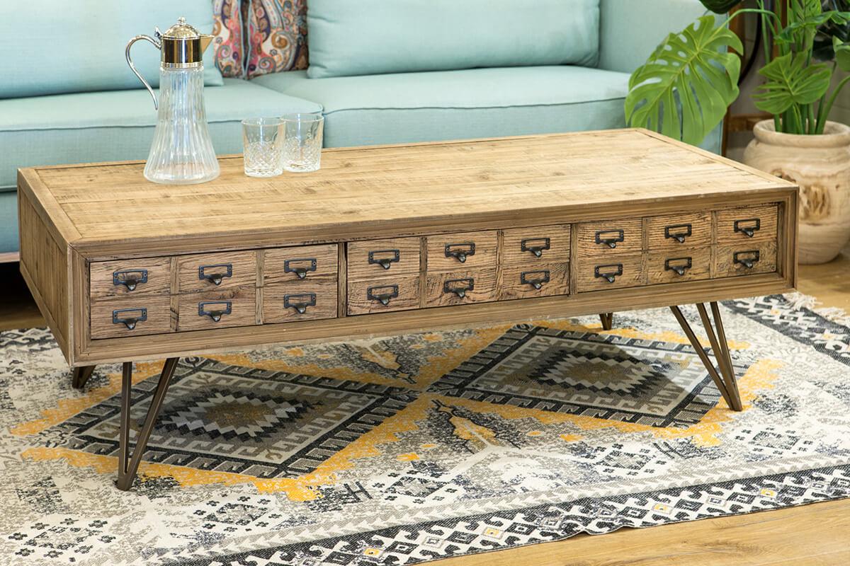 שולחן סלון כפרי מעץ