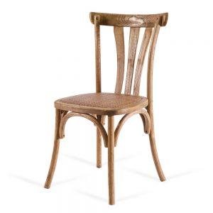 כסא אוכל רטרו עץ טבעי