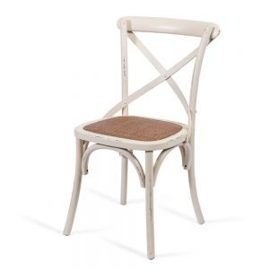 כסא אוכל איקס לבן שמנת