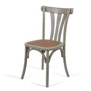 כסא אוכל רטרו אפור