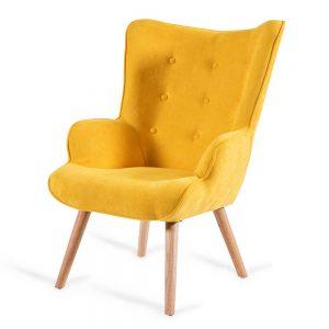 כורסא מעוצבת ניקי צהובה