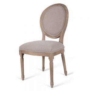 כסא אוכל דויד עגול אפור