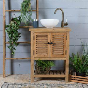 ארון אמבטיה סולם תריס 60 טבעי