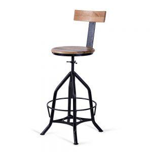 כסא בר בורג עם משענת