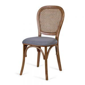 כסא אוכל ניקולאס אפור בהיר