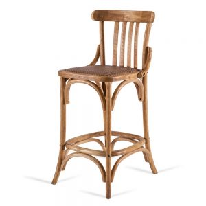כסא בר רטרו עץ טבעי