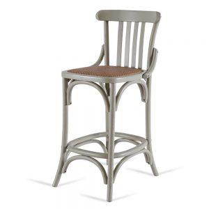 כסא בר רטרו אפור