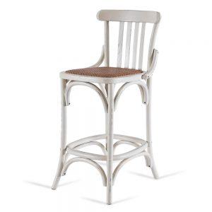 כסא בר רטרו לבן