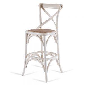 כסא בר איקס לבן שמנת
