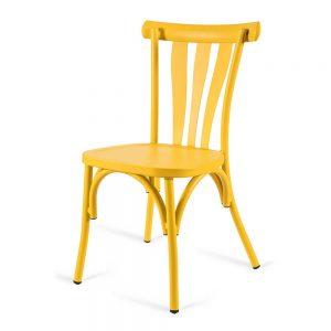 כסא אלומיניום רטרו צהוב