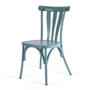 כסא אלומיניום רטרו טורקיז