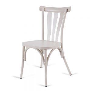 כסא אלומיניום רטרו לבן