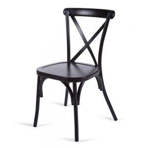 כסא אלומיניום איקס שחור