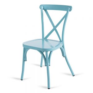 כסא אלומיניום איקס תכלת