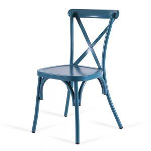 כסא אלומיניום איקס כחול