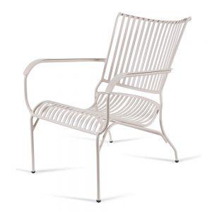 כסא אלומיניום נוח נמוך לבן