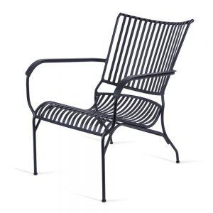 כסא אלומיניום נוח נמוך שחור