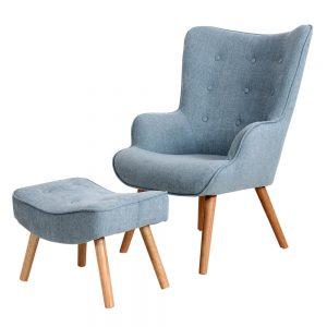 כורסא מעוצבת ניקי תכלת