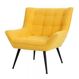 כורסא מעוצבת מנדי ריבועים צהובה