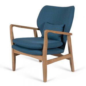 כורסא מעוצבת קאילה כחולה