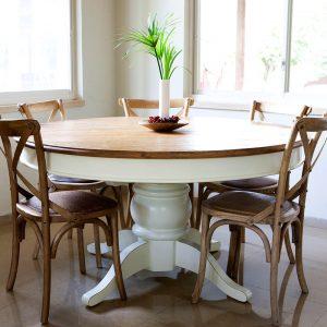 שולחן פינת אוכל עגול נפתח