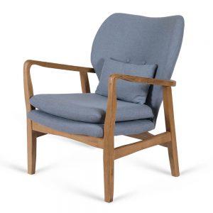 כורסא מעוצבת קאילה כחול אפור