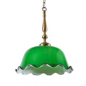 מנורת תלייה פרח ירוקה 7068
