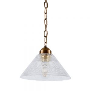 מנורת תלייה זכוכית סבתא 7085