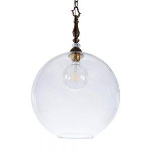 מנורת תלייה כדור זכוכית שקופה 7098