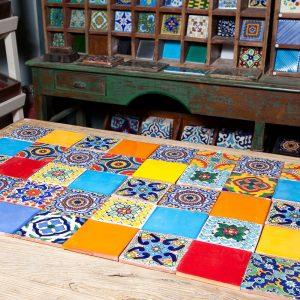 שטיח אריחים מצוירים