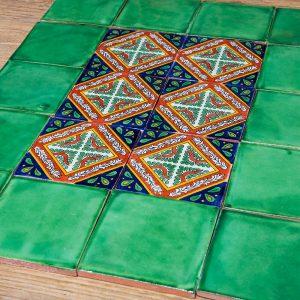 שטיח אריחים מצוירים אקזוטי