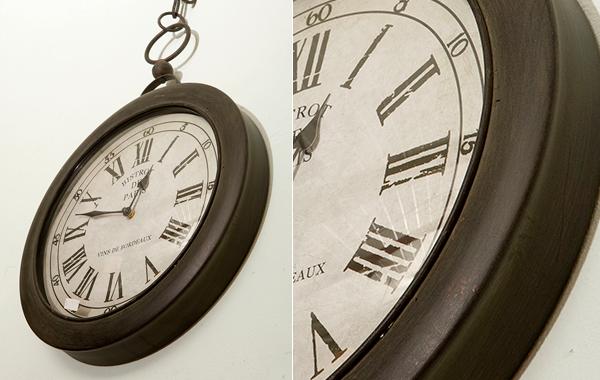 """שעון קיר עגול דגם """"כיס"""""""