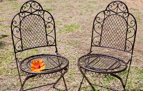 כסאות ברזל מתקפלים לגינה