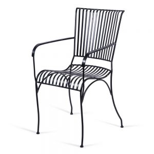 כסא נוח גבוה מברזל שחור