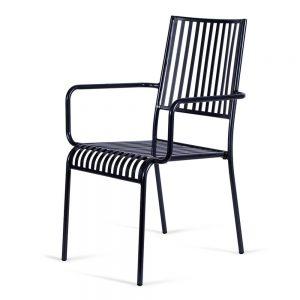 כסא אלומיניום פסים שחור
