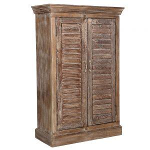 ארון עתיק עם דלתות תריס AA057