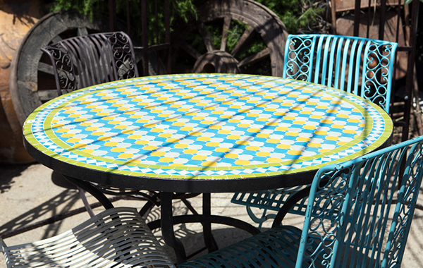 """שולחן פסיפס דגם """"קיץ"""""""