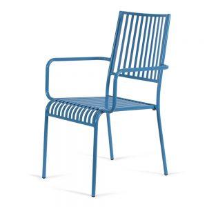 כסא אלומיניום פסים כחול