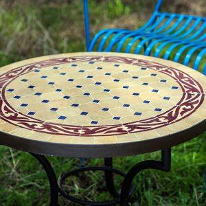 """שולחן פסיפס מרוקאי דגם """"מדבר"""""""