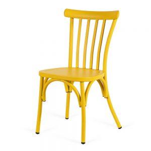 כסא אלומיניום 4 פסים צהוב