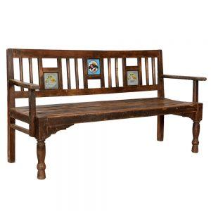ספסל עץ עתיק AA016