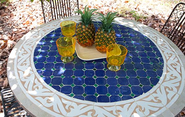 שולחן פסיפס מרוקאי דגם אקזוטי