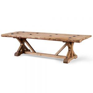 שולחן סלון מדלת עץ עתיקה