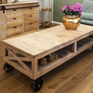 שולחן סלון על גלגלים