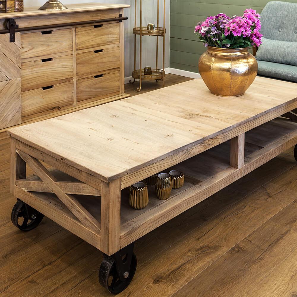 שולחן סלון - גלגלים