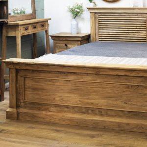 מיטה זוגית כפרית מעץ מלא