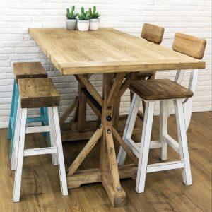 שולחן בר למטבח מעץ מלא