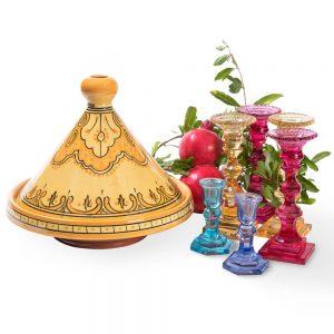 כלי טאג'ין מרוקאי צהוב