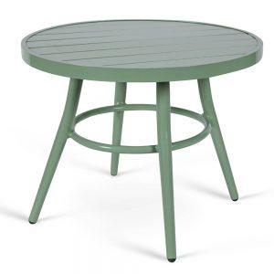 שולחן אלומיניום עגול נמוך ירוק