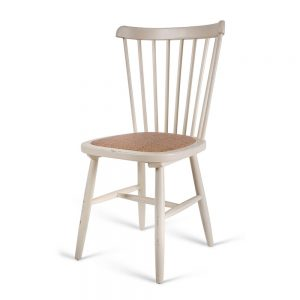 כסא אוכל עדי לבן שמנת